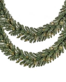 Set of 2 Balsam Hill Classic Blue Spruce Prelit Artificial C