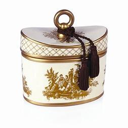 Seda France Classic Toile 2-Wick Candle Ceramic Japanese Qui