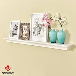 WELLAND Classic Wall Floating Shelf Crown Molding Mantle Dis