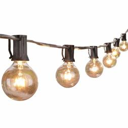 100Ft Patio String Lights Clear Bulb Porch Outdoor Yard Deck