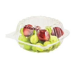 Dart Container 100 Piece, Clear Hinged Plastic Food Take Out