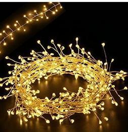 5.5Ft Cluster Lights, LED Fairy Starry Candleholder Wreath G
