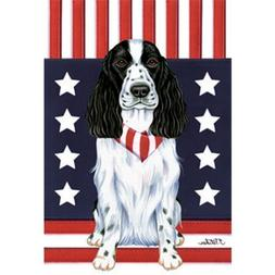 Cocker Spaniel  Patriotic Breed Garden Flag