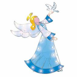 Collections Etc Lighted Outdoor Angel Garden Stake Christmas