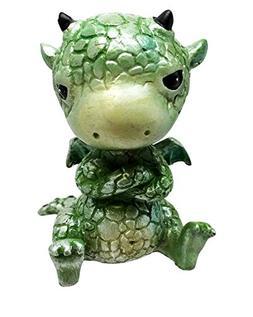 Small Collector Green Sulky Dinosaur Dragon Ornament Tableto