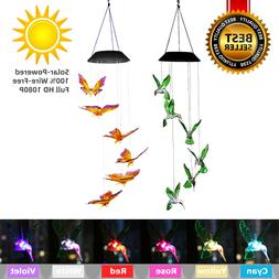 Color-Changing LED Solar Powered  Wind Chime Lights Yard Gar