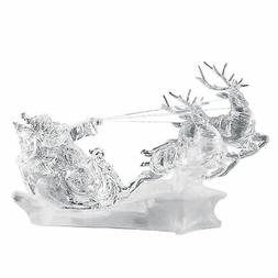 Color Changing Lighted Crystal Clear Acrylic Santas Sleigh