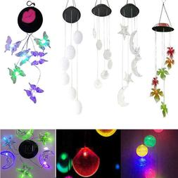 Color Changing Solar LED Wind Chimes Home Yard Garden Window