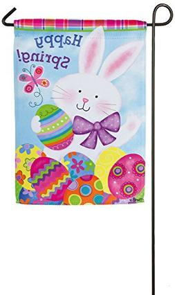 Colorful Bunny Garden Flag