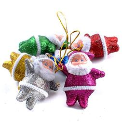 Lookatool® 6PC Colorful Christmas Santa Claus Party Ornamen