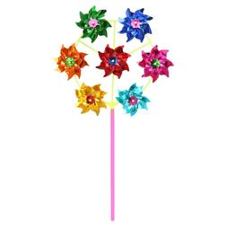 HBB Colorful DIY Sequins Windmill Wind Spinner Home Garden <