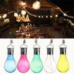 Colorful Hanging LED Light Solar Rotatable Lamp Bulb For Gar