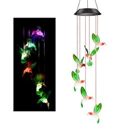 Colorful Solar Wind Chimes Outdoor - Color Changing Solar Po