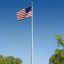 Super Tough Commercial Grade Sectional 20ft. Flagpole - Sati