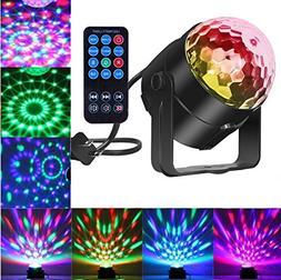 Comwinn Disco Lights Sound Activated Strobe Light Disco Ball