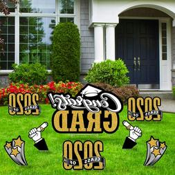 Congrats Graduation Yard Signs w/ Stakes Corrugated Plastic