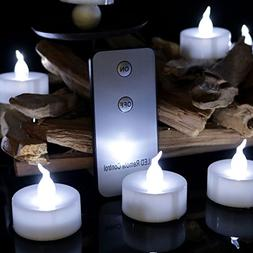 Youngerbaby 12pcs Cool White Flameless Led Tealights Candle