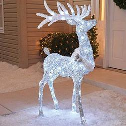 """Holiday Home Outdoor 48"""" Cool White Twinkling Buck Deer Chri"""