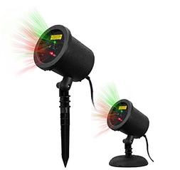 COOWOO Christmas laser lights Projector Waterproof, Red and