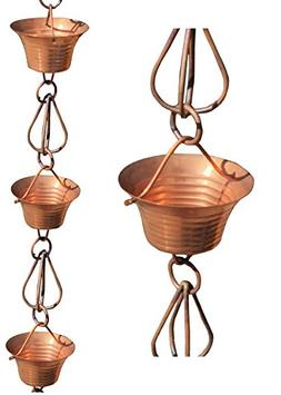 Monarch 8.5 Foot X-Large Copper Mizoko Rain Chain