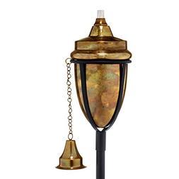 H Potter Copper Torch Rustic Patio Outdoor Garden Torch