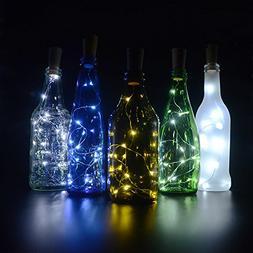 Cork Lights for Wine Bottles 6 Pack, 40inch/ 1m 10 LED Coppe