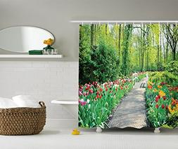 Ambesonne Country Home Decor Collection, Tulips in Keukenhof