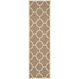 Safavieh Courtyard Collection CY6243-242 Brown Indoor/ Outdo