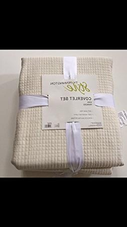 Ty Pennington Style Coverlet King Frances Ivory