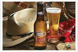 Cowboy and Budlight Beer Tin Poster by Food & Beverage Decor