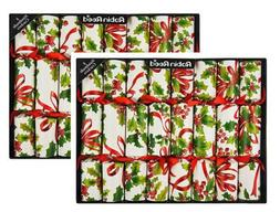 CHRISTMAS CRACKERS - HOLLY BERRY CHRISTMAS CRACKERS - SET OF