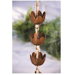 Rain Chain - Decorative Lily Shaped Copper Cups