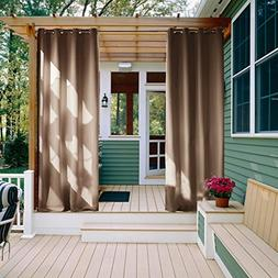 NICETOWN Outdoor Curtain Panel for Patio - Grommet Top Therm