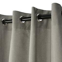 Sunbrella Outdoor Curtain Panel, Nickel Grommet Top, 50 by 1