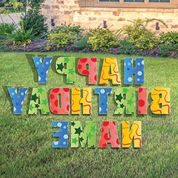 Custom Happy Birthday Yard Sign - Happy Birthday Letters Cus