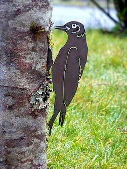 Cut Metal Rusty Woodpecker Bird Garden Home Yard Outdoor Law