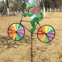JUA PORROR Cute 3D Animal on Bike Windmill Wind Spinner Whir
