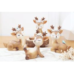 Cute Baby Deer Fairy Garden Resin Figurines Home Decoration