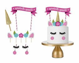 Cute Handmade Unicorn Cake Cupcake Topper Decoration Birthda