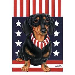 Dachshund  Patriotic Breed Garden Flag