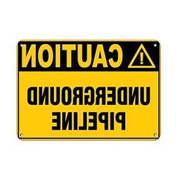 Danger Underground Live Wire Style 1 Hazard Labels Aluminum