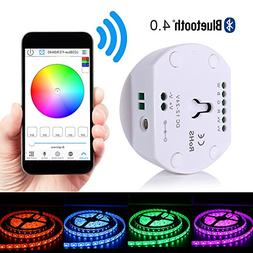 Korjo DC12V 24V LED Strip Light Bluetooth Controller for RGB