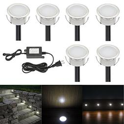 FVTLED Pack of 6 LED Deck Lights Kit Low Voltage Waterproof