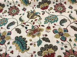 Robert Allen Decor Fabric Floral Spring Mix Poppy By The Yar