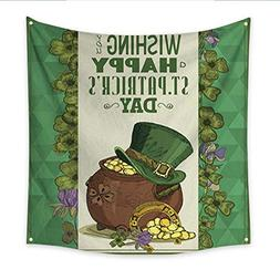 Anniutwo Decor Tapestry Happy St Patrick s Day Greeting Card