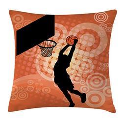 Ambesonne Basketball Throw Pillow Cushion Cover, Basketball