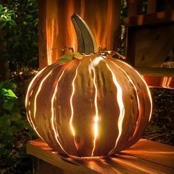 14 in. Decorated Pumpkin Lantern Light Up Yard Outdoor Fall