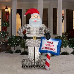 CHRISTMAS DECORATION LAWN YARD INFLATABLE AIRBLOWN MILITARY