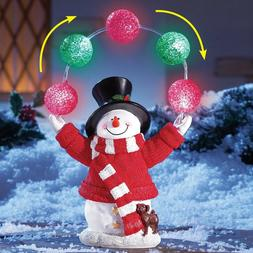 Yard Christmas Lighted Snowman Decoration Outdoor Xmas Light
