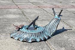 Decorative Brass Garden Outdoor Sundial - Snail with a Littl